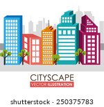 urban design over white... | Shutterstock .eps vector #250375783