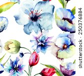 seamless pattern with original... | Shutterstock . vector #250376884