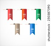 set vector colorful bookmark...