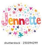 jennette girls name decorative...   Shutterstock .eps vector #250394299