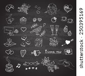 doodle set of icons to the... | Shutterstock .eps vector #250395169