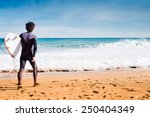 Surfer Is Going To Serf In The...