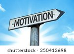 motivation sign with a... | Shutterstock . vector #250412698