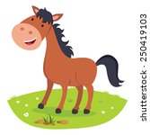 Stock vector horse smiling cheerful horse 250419103