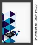 abstract modern flyer  ... | Shutterstock . vector #250419130