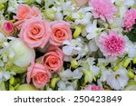 bouquet of orchid  rose and...   Shutterstock . vector #250423849