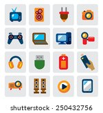 vector color electronic devices ... | Shutterstock .eps vector #250432756