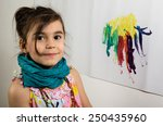 young little girl portrait... | Shutterstock . vector #250435960
