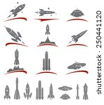 rockets collection set. vector | Shutterstock .eps vector #250441120