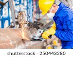 industrial worker in... | Shutterstock . vector #250443280