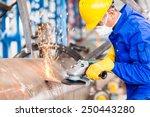 industrial worker in... | Shutterstock . vector #250443280