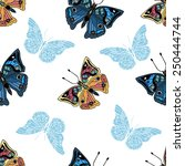 seamless pattern with... | Shutterstock .eps vector #250444744