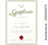 certificate template | Shutterstock .eps vector #250446073