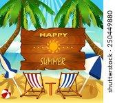 vector summer signboard | Shutterstock .eps vector #250449880