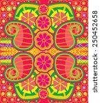 indian colourfull pattern | Shutterstock .eps vector #250452658