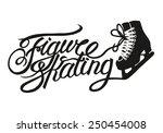 figure skating vintage... | Shutterstock .eps vector #250454008
