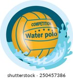 water polo ball | Shutterstock .eps vector #250457386