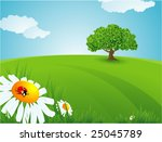 summer time. vector background. | Shutterstock .eps vector #25045789