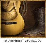 Country Music Background With...
