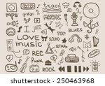 music set design | Shutterstock .eps vector #250463968