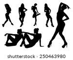 silhouettes dance girls design | Shutterstock .eps vector #250463980