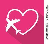 honeymoon design  vector... | Shutterstock .eps vector #250479253