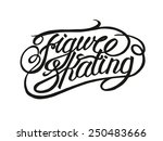 figure skating vintage lettering   Shutterstock .eps vector #250483666