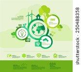 green  creative  thinking world ...   Shutterstock .eps vector #250488358