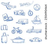 icon set travel holidays ... | Shutterstock .eps vector #250490464