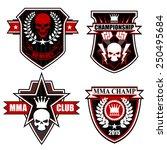 sports shield emblem set | Shutterstock .eps vector #250495684