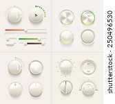 colorful web ui knob controls...