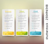 bright pricing table  banner ... | Shutterstock .eps vector #250496548