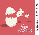 happy easter card design ...   Shutterstock .eps vector #250511158