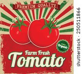 colorful vintage tomato label... | Shutterstock .eps vector #250511866