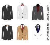 set of 6 illustration handsome...