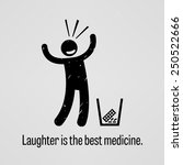 laughter is the best medicine | Shutterstock .eps vector #250522666