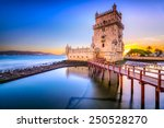 lisbon  portugal at belem tower ... | Shutterstock . vector #250528270