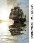 sailboat against a beautiful... | Shutterstock . vector #250530934