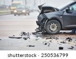 car crash accident on street ... | Shutterstock . vector #250536799