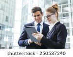 business people meeting | Shutterstock . vector #250537240