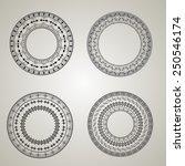 collection of retro circle...   Shutterstock .eps vector #250546174