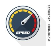 speedometer icon with long... | Shutterstock .eps vector #250555198