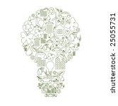 vector illustration of bulb... | Shutterstock .eps vector #25055731