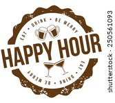 happy hour stamp eps 10 vector... | Shutterstock .eps vector #250561093