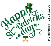 happy st patrick      s day... | Shutterstock . vector #250561108