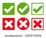 check box icon set. vector... | Shutterstock .eps vector #250573594