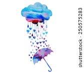 rain of hearts | Shutterstock .eps vector #250575283