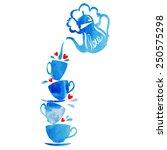 love tea   Shutterstock .eps vector #250575298