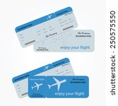 variant of air ticket isolated... | Shutterstock .eps vector #250575550