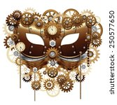 steampunk carnival party mask | Shutterstock .eps vector #250577650